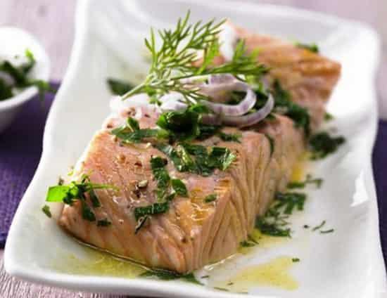 рецепт лосось в фольге