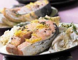 рецепт стейка из лосося
